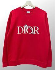 Dior and Judy Sweatshirt Red _ Logo Embroidery _ Size M Regular - NEW . Felpa
