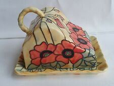 Old Tupton Ware Yellow Poppy  Collection - Cheese / Butter Dish