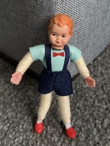 "Vintage Miniature German CACO Boy Doll SO CUTE 3.5"" Posable Buy Now No Res!"