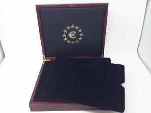 Luxus HOLZ Münzkassette für 24x32 mm und 6x48mm, gebraucht (Z2503)