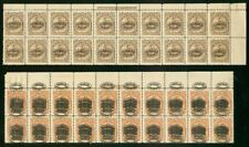 Salvador 1896-7 Official LOCOMOTIVE 3c TOP STRIPS OF 20