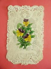 CANIVET, Holy lace card,santino merlettato, à système Ed. Durand