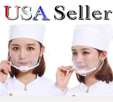 15x New Transparent Catering Restaurant Plastic Kitchen Mask Shield Mouth Cover