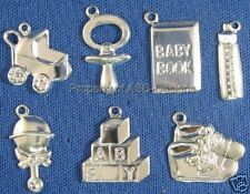 70pc S/S Plated New Baby Toddler Infant Lot Charms 4894