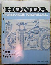 89 1989 CB400 CB400F / CB-1 Honda Shop Service Manual