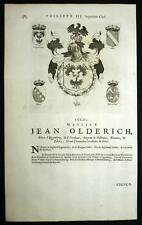 JEAN OLDERICH et CHRISTOPHLE Heraldisme Blasons 1667