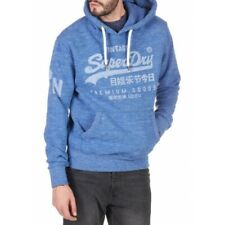 MEN'S SUPERDRY BLUE SCREEN PRINTED HOODIE BRAND NEW WITH TAGS UK SMALL