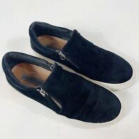 STEVE MADDEN Glaammar Zip Black Suede Platform Sneakers Sz 10
