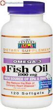 21st Century Fish Oil 1000mg Softgel 120ct Heart Health