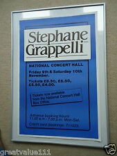 STEPHANE GRAPPELLI GIG MUSIC POSTER DUBLIN1984 UNRELEASED VINTAGE ORIGINAL 34YRS