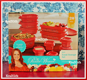 The Pioneer Woman Mazie Assorted Food Storage Set ~ 20 Pieces With Lids