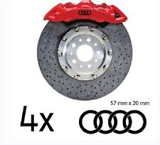 4x Audi Ringe Aufkleber für Bremssättel Emblem Logo