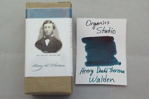 Organics Studio Henry David Thoreau Walden Teal Fountain Pen Ink