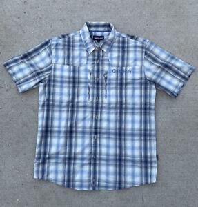 Patagonia Button Up Shirt Plaid Fly Fishing Hiking Men's Size Medium