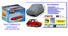"""Copriauto- Telo Copriauto """"ADATTABILE"""" FIAT VECCHIA 500  EPOCA dal 1957 al 1975"""