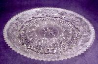 "MINT Duncan Miller SANDWICH Depression CRYSTAL Glass 12"" EGG TRAY Platter PLATE"