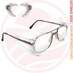 Side Shields for Glasses Australia Safety Eyewear Attachment Tinted or Clear