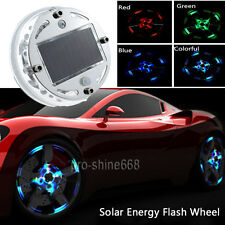 12LED Car Auto Solar Energy Flash Wheel Tire Valve Caps Neon Light RGB For VW