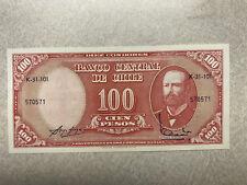 1961 Chile 10 Centésimos On 100 Pesos Cu #15441