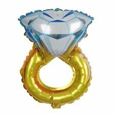 "12"" tall Wedding Ring Diamond Engagement Shaped Foil Balloon Bachelorette Party"