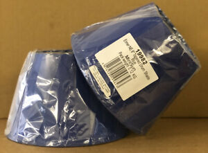 """2 PACK OF 8"""" TAPERED DRUM LAMPSHADES BLUE MAX: 40W  19982 NEW ( Ex~ DISPLAY )"""