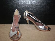TABITHA SIMMONS FOR J.CREW DUSTY MILLER HIGH-HEEL SANDAL SIZE 6,5M SILVER