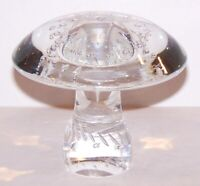 "STUNNING CRYSTAL ART GLASS MUSHROOM WITH BUBBLES 3 3/8"" SCULPTURE/PAPERWEIGHT"
