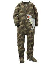 Carter's 4T Dinosaur Camouflage Dino Fleece Footed Blanket Pajama Sleeper