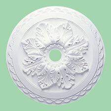 Grande Hermoso Ornate Blanco Techo Decoración para el hogar yeso Medallón 60cm