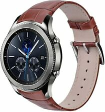 samsung galaxy gear s3 classic brown smartwatch leather strap