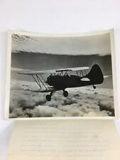 Vintage Photograph The Waco Model UPF-7 Trainer Biplane Airplane Black & White