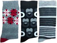 3 Pairs of Ladies JA44 Patterned Cotton Socks by Jennifer Anderton , UK Size 4-8