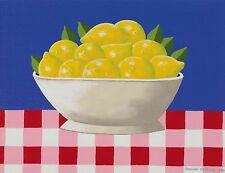 Joanne Netting - Lemons, acrylic on canvas, Framed