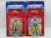 MOTU,Commemorative TEELA & EVIL-LYN,MOC,sealed,figure,Carded,He-Man
