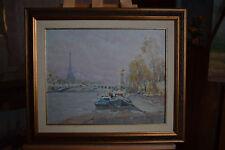 Russian oil cardboard Impressionism Paris Landscape Demidov Alexander п-9