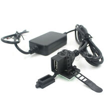 12V 2.1A USB Powerport Charger for Motorcycle Smartphone iPhone Android GPS