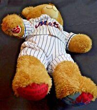 NEW Build-A-Bear Workshop Light Brown Teddy Bear New York Mets Plush Toy Kids