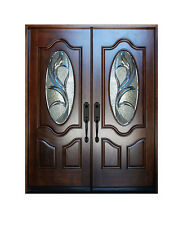 """Double Exterior Front Entry Wood Door M800G 30""""X80""""X2 Right Hand Swing In"""