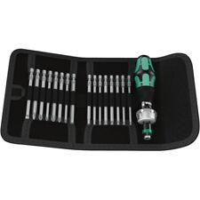 Wera Tools Screwdriver Ratcheting Bits Holder Set 17 Pieces KK 60 RA
