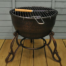 Elidir Cast Iron Outdoor Fire Bowl / Fire Pit & BBQ Grill by Gardeco
