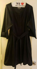 Mary Kay Consultant Lab Coat Make Up Smock w/Zipper & Tie Belt Size 1Xl-PreOwned