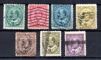 Canada KEVII 1903 fine used set to 50c #175-185 WS15352