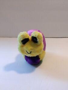 "YooHoo & Friends Snail Yellow Green Purple Bean Bag Plush 5"" NO SOUND"