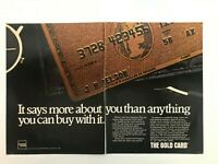 American Express The Gold Card  Vintage1984 Print Ad