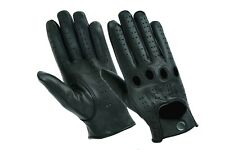 Hugger Men's Water Resistant Perforated Leather Driving Riding Motorcycle Glove