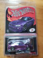 2020 Hot Wheels RLC Exclusive Nissan Skyline GT-R (BNR34) Purple w/Patch and Pin