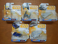 Star Wars Disney Mattel HotWheels Starships Imperial AT-Hauler Tie Falcon NEW