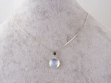 Lovely Opalite 12mm , 925 Sterling Silver Chain Necklace.Handmade In Gift Bag