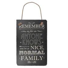 Hanging Slate Plaque Sign Family Bedroom Kitchen Home Rustic Wall Door Message