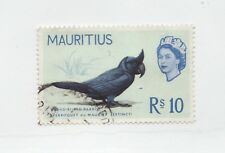 MAURITIUS Scott 290 Θ used postage stamp, Rs10, Broad Billed Parrot